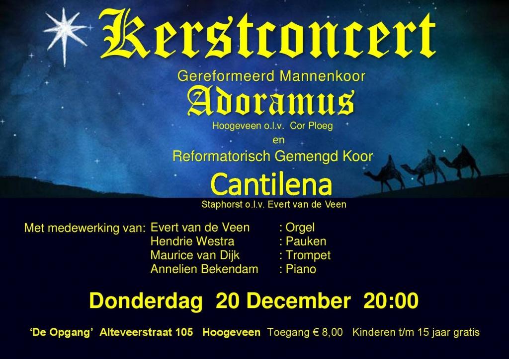 Kerstconcert Mannenkoor Adoramus Hoogeveen @ De Opgang Hoogeveen