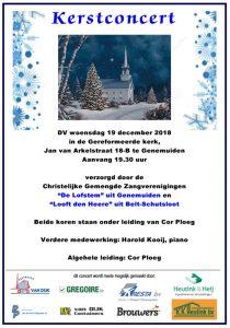 Kerstconcert De Lofstem Genemuiden @ Gereformeerde kerk Genemuiden